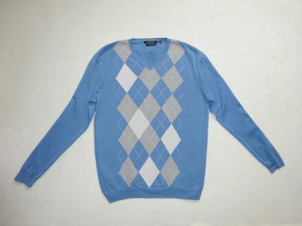 Swetry Reserved niebieski sweter w romby rozmiar M