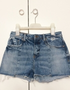 Zara denim shorts jeansowe szorty poszarpane przetarte must hav...