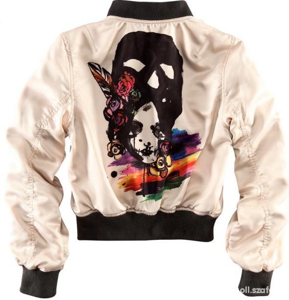 Fashion Against Aids H&M limitowana dwustronna bomberka 36