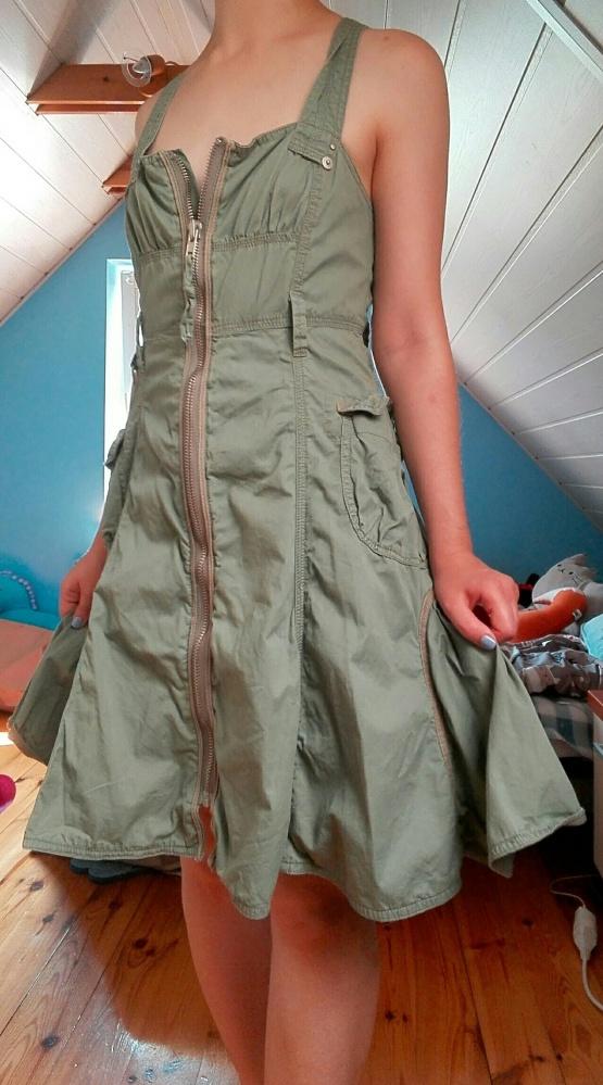 Sukienka militarna khaki...