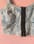 Crop top ala jeans zip suwak ombre marmurkowy...