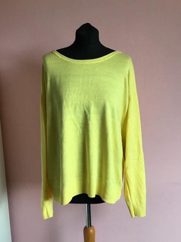 Żółty sweter L XL 40 42 kardigan