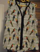 Bluzka Camaieu w tukany bęz rękawów rozmiar M L...