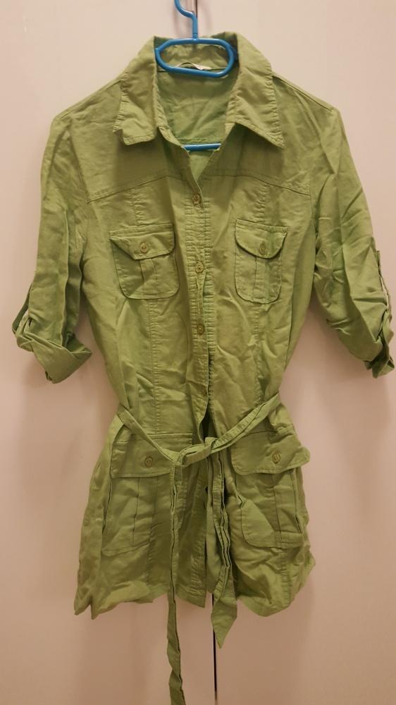 Zielona letnia długa koszula