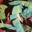 Spódnica George liście dżungla r 38 wiskoza