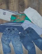 Spodnie dżinsowe sportowe różne 72 86...