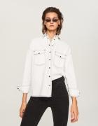 Koszula wierzchnia biały jeans Reserved...