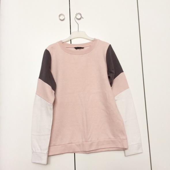 New look bluza różowy szary biały sport Classic 10