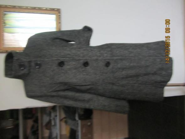 płaszcz xl szary stójka h&M jesień wiosna krata...