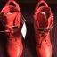 Nowe czerwone sneakersy trampki na koturnie siwiec