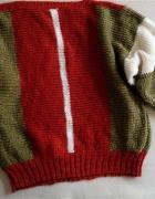 Sweter w trzech kolorach L...