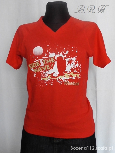Koszulki koszulka czerwona z aplikacja