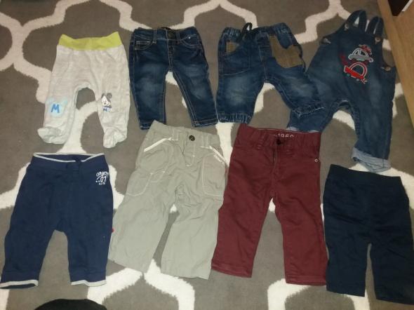 Spodnie dresy jeansy