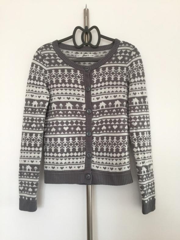 Swetry Sweterek świąteczny House szary biały XS must have insta tumblr