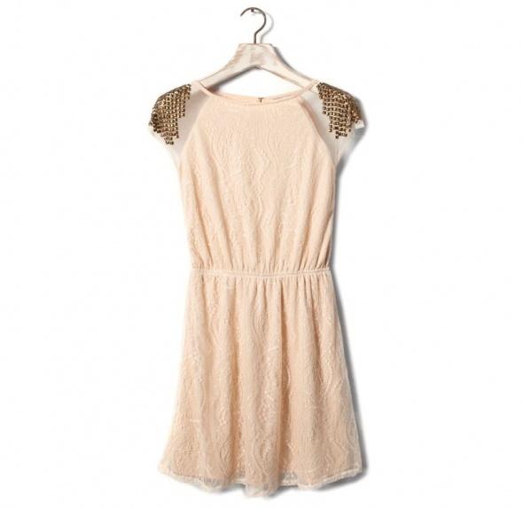 Pull&Bear sukienka koronka S ćwieki must have tumblr insta gold