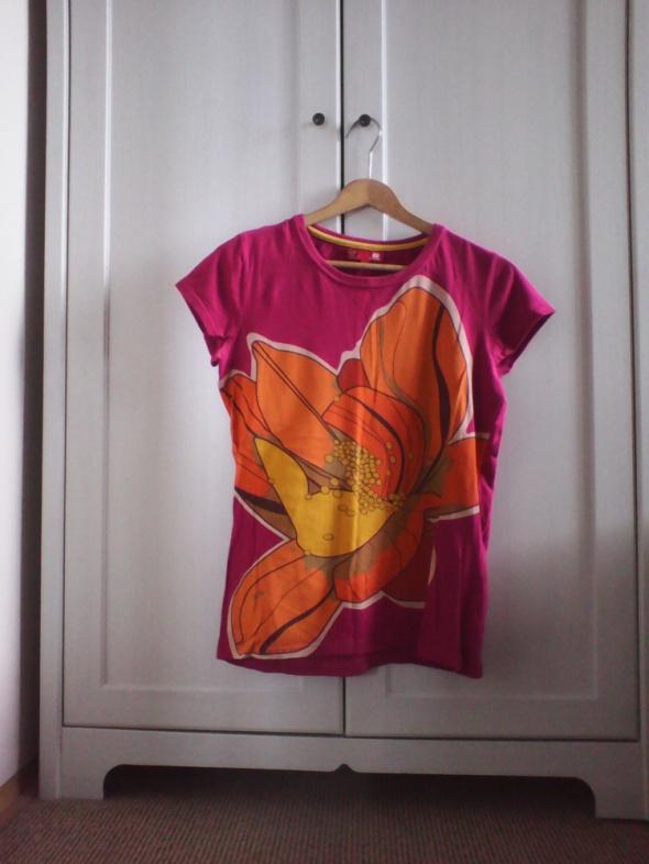 T-shirt Tshirt Koszulka Fuksja Floral