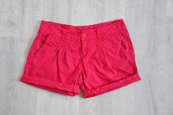 Czerwone szorty Tally Weijl Materiałowe krótkie spodenki