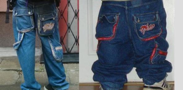 Męskie Moro Jeans Moro78 Sport spodnie BAGGY hip hop skate Clinic Mass