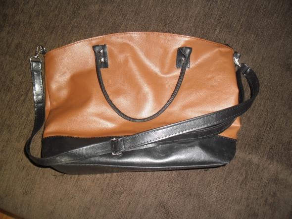 Czarno brązowa torebka na pasku