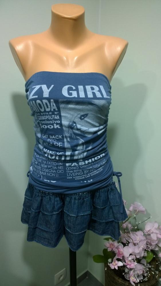 tunika sukienka mini XS S