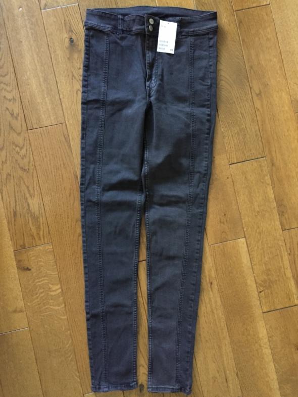 Jeansowe ciemnoszare spodnie nowe z metką H&M rozm 40...