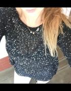 cekinowy czarny sweterek ozdobny...