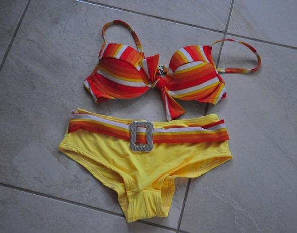 Kostium kąpielowy pomarańczowo żółty