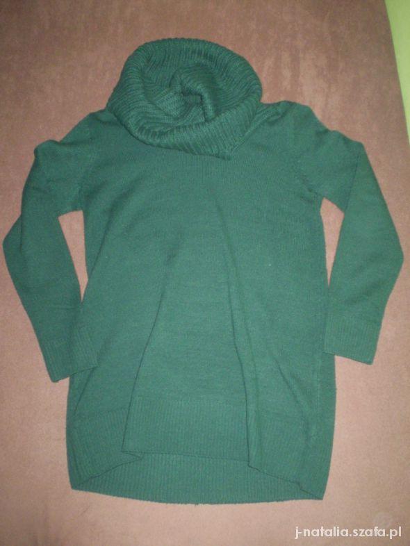 Swetry Zielony sweter H&M