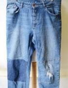 Spodnie Lindex XXL 44 Dziury Jeans Przetarcia Straight...