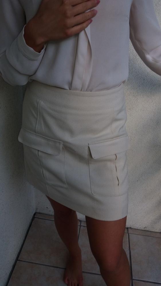 Spódniczka mini kolor beżowy