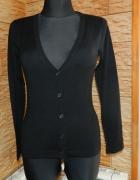 KAFFE czarny dopasowany sweterek roz XS...