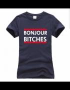 Koszulka tshirt glamour BONJOUR BITCHES nowa...
