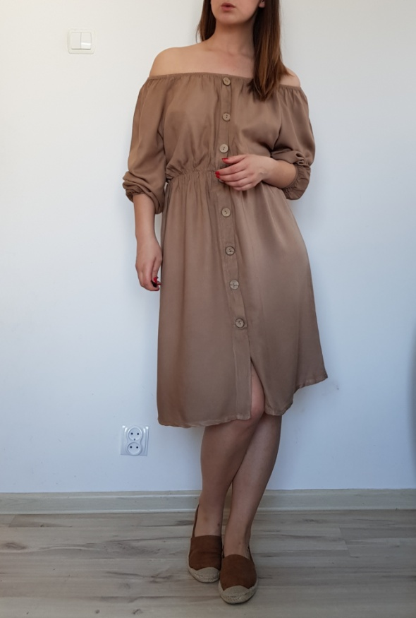 Sukienka hiszpanka karmelowa 36 38