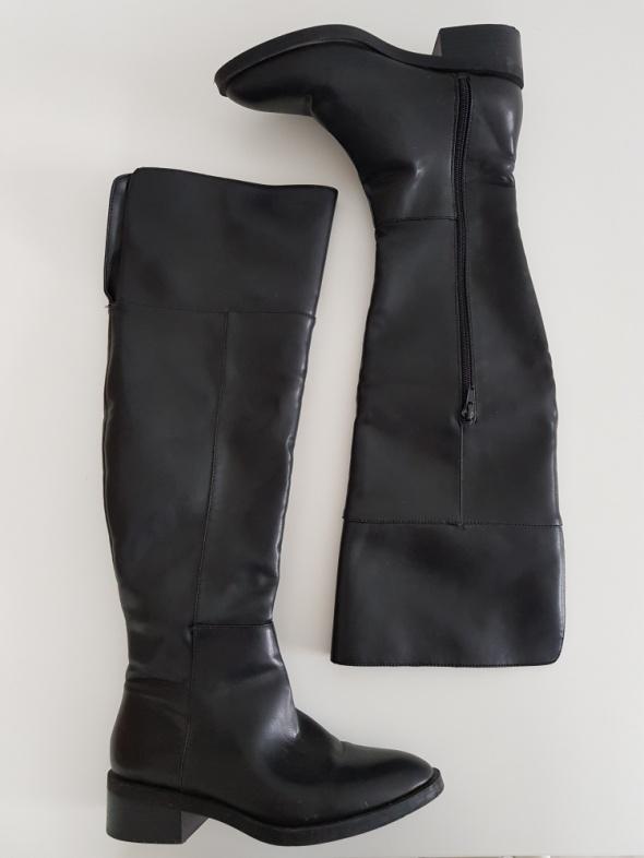 Czarne kozaki za kolano Zara 37