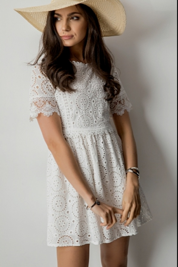 Boho nowa ażurowa sukienka