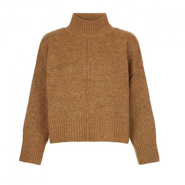 ciepły sweter z półgolfem new look oversize