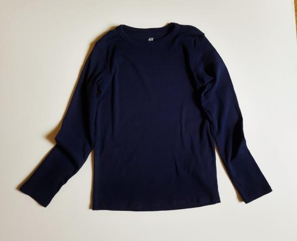H&M bluzka dla dziecka 10 12 lat 146 152 Granatowa