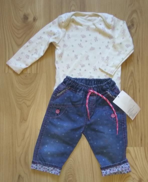 Komplety Jasne body z długim rękawem i spodnie jeasny dziew