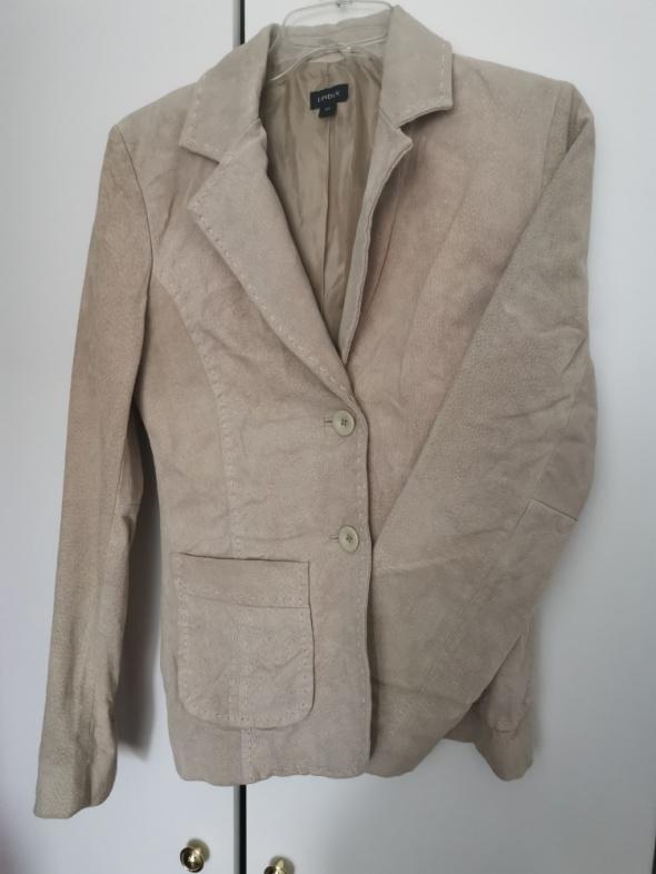 Skórzana beżowa kurtka