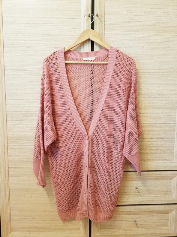 Swetry sweter kardigan z dziurami oversize