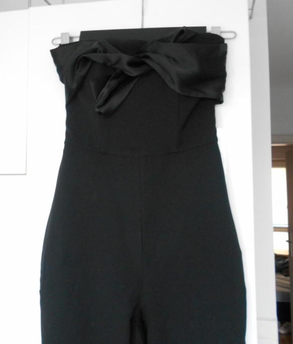 Kombinezony Bershka nowy czarny elegancki kombinezon kokarda długi