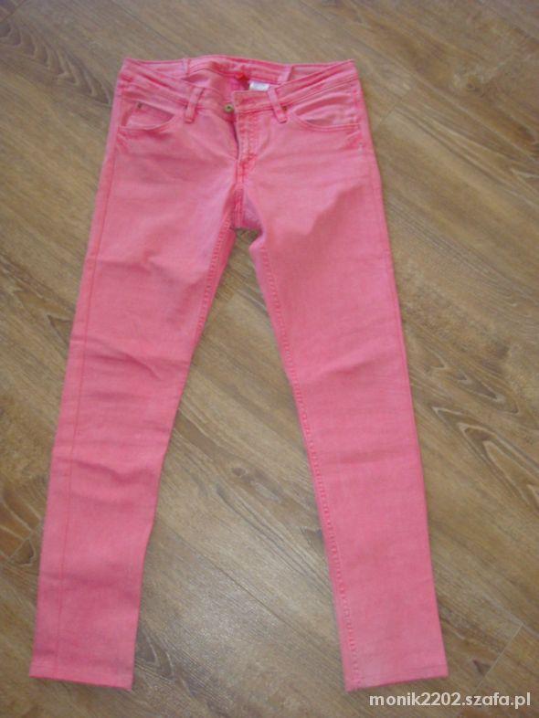 Rurki różowe H&M ala marmurki rozmiar 38