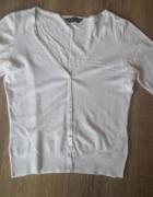 Biały sweterek na guziki rozmiar M...