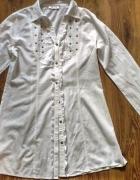 Biała bawełniana tunika bluzka ćwieki Gina 40...