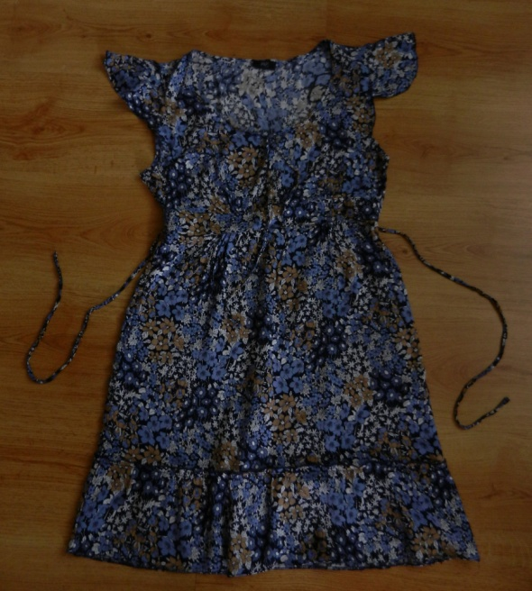 Sukienka tunika niebieska w kwiatki F&F 40 L...