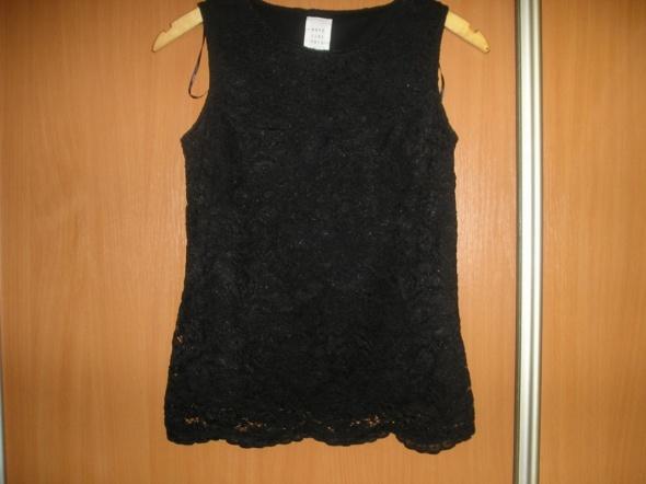koronkowa czarna bluzka M 38 nowa