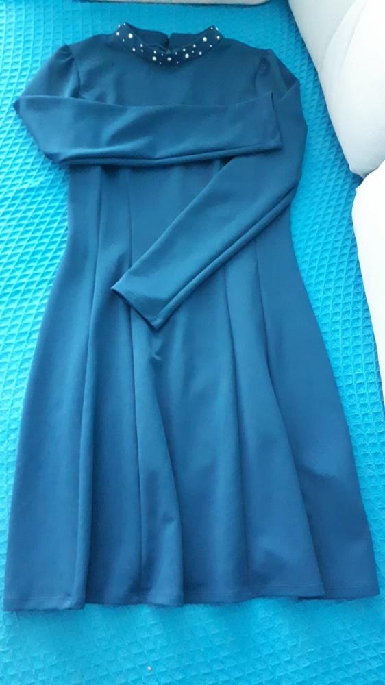 Suknie i sukienki piękna sukienka z perełkami