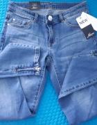 spodnie orsay z zameczkami...