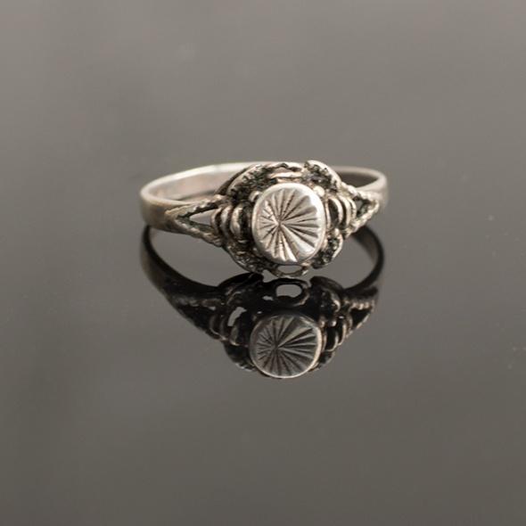 Antyk stylowy srebrny pierścionek
