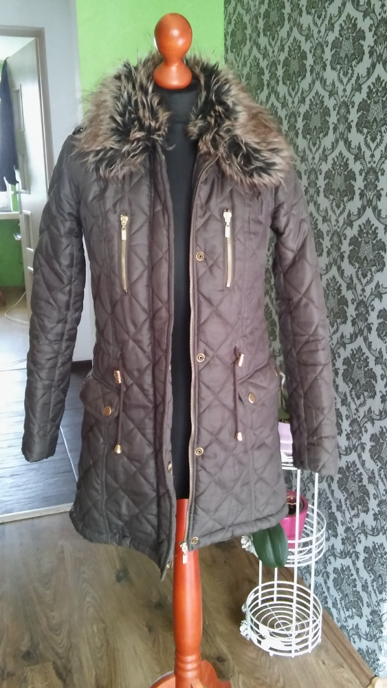 Płaszcz kurtka damska asymetryczna 36